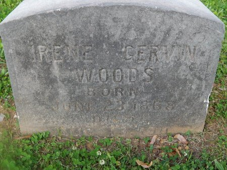 GERVIN WOODS, IRENE - Knox County, Tennessee | IRENE GERVIN WOODS - Tennessee Gravestone Photos