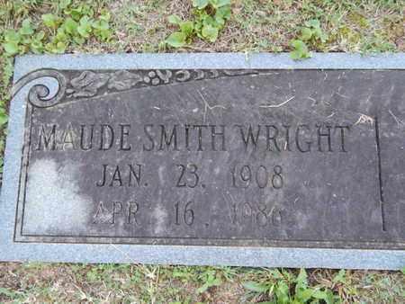 SMITH WRIGHT, MAUDE (CLOSE-UP) - Knox County, Tennessee   MAUDE (CLOSE-UP) SMITH WRIGHT - Tennessee Gravestone Photos
