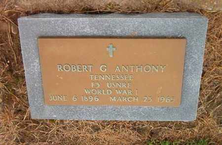 ANTHONY  (VETERAN WWI), ROBERT G - Lauderdale County, Tennessee | ROBERT G ANTHONY  (VETERAN WWI) - Tennessee Gravestone Photos