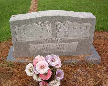 BLACKWELL, WILSON RICE - Lauderdale County, Tennessee   WILSON RICE BLACKWELL - Tennessee Gravestone Photos