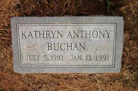 ANTHONY BUCHAN, KATHRYN - Lauderdale County, Tennessee | KATHRYN ANTHONY BUCHAN - Tennessee Gravestone Photos