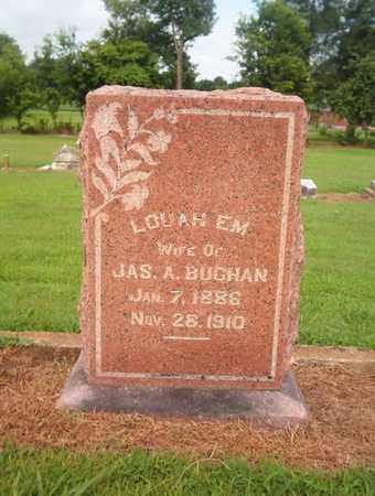 BUCHAN, LOUAH EM - Lauderdale County, Tennessee   LOUAH EM BUCHAN - Tennessee Gravestone Photos