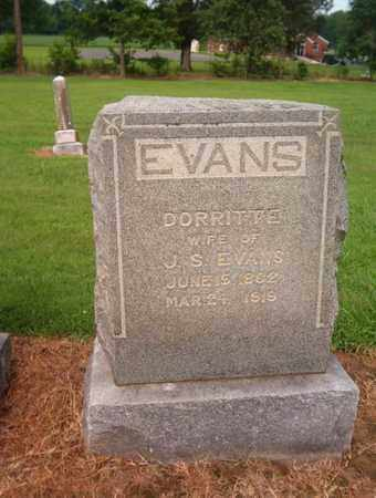 EVANS, DORRITE - Lauderdale County, Tennessee | DORRITE EVANS - Tennessee Gravestone Photos