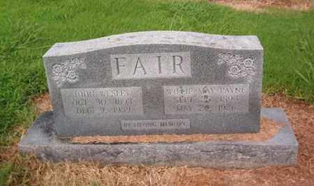 FAIR, JOHN WESLEY - Lauderdale County, Tennessee | JOHN WESLEY FAIR - Tennessee Gravestone Photos