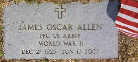 ALLEN, JAMES OSCAR - Lawrence County, Tennessee | JAMES OSCAR ALLEN - Tennessee Gravestone Photos