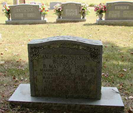 BURGESS, JAMES HENDERSON - Lawrence County, Tennessee | JAMES HENDERSON BURGESS - Tennessee Gravestone Photos