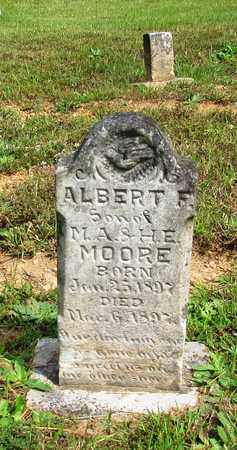 MOORE, ALBERT - Lawrence County, Tennessee | ALBERT MOORE - Tennessee Gravestone Photos