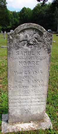 MOORE, SAMUL K. - Lawrence County, Tennessee | SAMUL K. MOORE - Tennessee Gravestone Photos