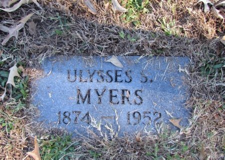 MYERS, ULYSSES S. - Lawrence County, Tennessee | ULYSSES S. MYERS - Tennessee Gravestone Photos