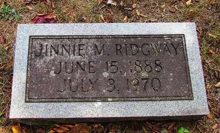 RIDGWAY, JINNIE M. - Lawrence County, Tennessee | JINNIE M. RIDGWAY - Tennessee Gravestone Photos