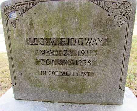 RIDGWAY, LEO V. - Lawrence County, Tennessee | LEO V. RIDGWAY - Tennessee Gravestone Photos