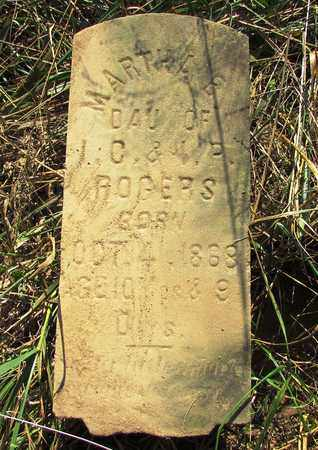 ROGERS, MARTHA - Lawrence County, Tennessee | MARTHA ROGERS - Tennessee Gravestone Photos