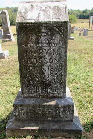 ROSSON, MARY M. - Lawrence County, Tennessee | MARY M. ROSSON - Tennessee Gravestone Photos