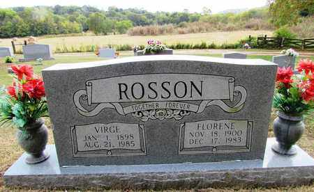ROSSON, VIRGIE - Lawrence County, Tennessee | VIRGIE ROSSON - Tennessee Gravestone Photos
