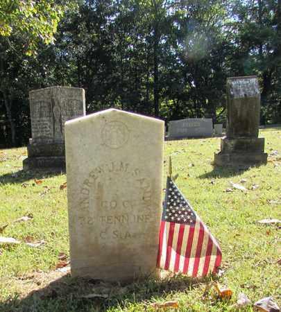 SANDY  (VETERAN CSA), ANDREW JAMES MONROE - Lawrence County, Tennessee   ANDREW JAMES MONROE SANDY  (VETERAN CSA) - Tennessee Gravestone Photos