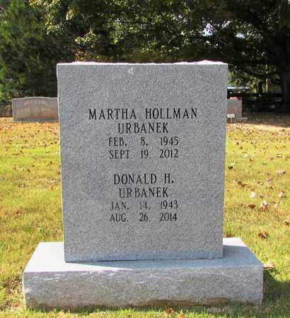 HOLLMAN URBANEK, MARTHA - Lawrence County, Tennessee | MARTHA HOLLMAN URBANEK - Tennessee Gravestone Photos