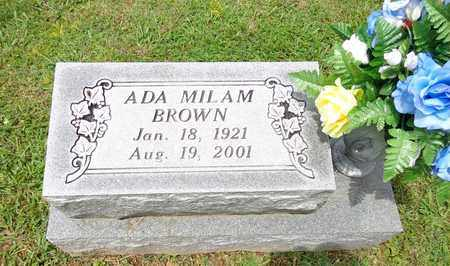 BROWN, ADA MILAM - Lewis County, Tennessee | ADA MILAM BROWN - Tennessee Gravestone Photos