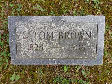 BROWN, C TOM - Lewis County, Tennessee | C TOM BROWN - Tennessee Gravestone Photos