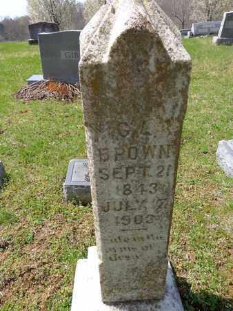 BROWN, CHARLES LUSK - Lewis County, Tennessee | CHARLES LUSK BROWN - Tennessee Gravestone Photos