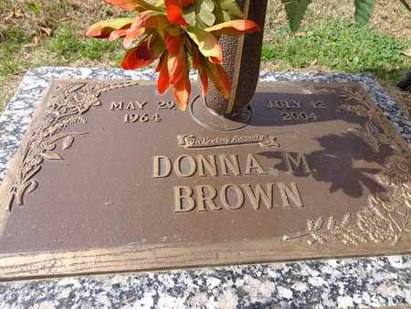 BROWN, DONNA M. - Lewis County, Tennessee | DONNA M. BROWN - Tennessee Gravestone Photos