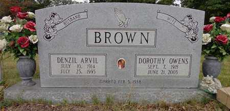 BROWN, DENZIL ARVIL - Lewis County, Tennessee | DENZIL ARVIL BROWN - Tennessee Gravestone Photos