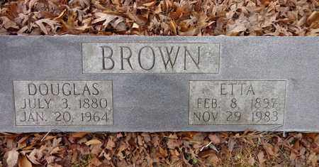 BROWN, DOUGLAS - Lewis County, Tennessee | DOUGLAS BROWN - Tennessee Gravestone Photos
