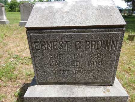 BROWN, ERNEST C - Lewis County, Tennessee | ERNEST C BROWN - Tennessee Gravestone Photos
