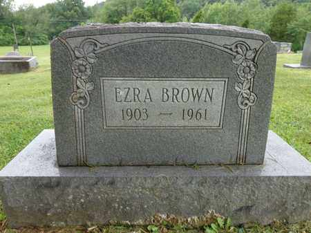 BROWN, EZRA - Lewis County, Tennessee | EZRA BROWN - Tennessee Gravestone Photos