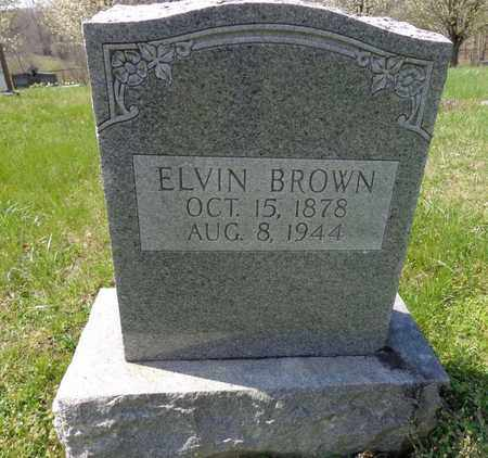 BROWN, ELVIN - Lewis County, Tennessee | ELVIN BROWN - Tennessee Gravestone Photos