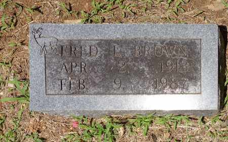 BROWN, FRED L - Lewis County, Tennessee | FRED L BROWN - Tennessee Gravestone Photos