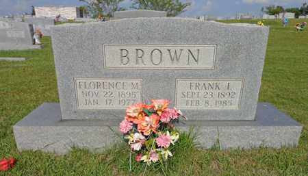 BROWN, FLORENCE M - Lewis County, Tennessee | FLORENCE M BROWN - Tennessee Gravestone Photos
