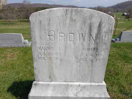 "BROWN, FRANCES IZORA ""FANNIE"" - Lewis County, Tennessee 