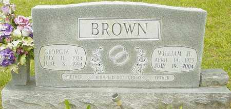 BROWN, GEORGIA V. - Lewis County, Tennessee | GEORGIA V. BROWN - Tennessee Gravestone Photos