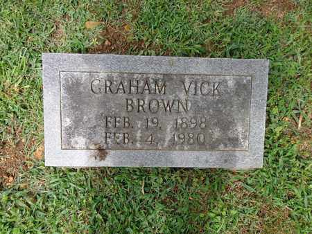 BROWN, GRAHAM VICK - Lewis County, Tennessee | GRAHAM VICK BROWN - Tennessee Gravestone Photos