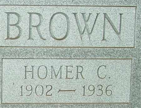 BROWN, HOMER C. - Lewis County, Tennessee | HOMER C. BROWN - Tennessee Gravestone Photos