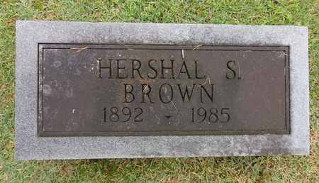 BROWN, HERSHAL S - Lewis County, Tennessee | HERSHAL S BROWN - Tennessee Gravestone Photos
