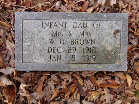 BROWN, INFANT - Lewis County, Tennessee | INFANT BROWN - Tennessee Gravestone Photos