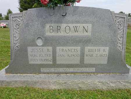 BROWN, JESSE B - Lewis County, Tennessee | JESSE B BROWN - Tennessee Gravestone Photos