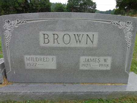 BROWN, JAMES W - Lewis County, Tennessee | JAMES W BROWN - Tennessee Gravestone Photos