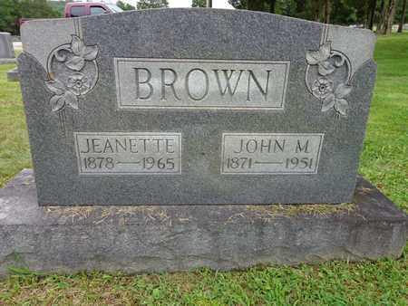 BROWN, JOHN M - Lewis County, Tennessee   JOHN M BROWN - Tennessee Gravestone Photos