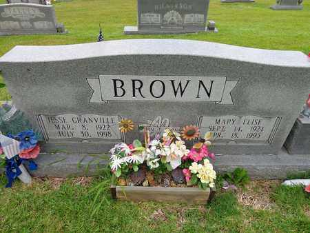 BROWN, JESSE GRANVILLE - Lewis County, Tennessee | JESSE GRANVILLE BROWN - Tennessee Gravestone Photos