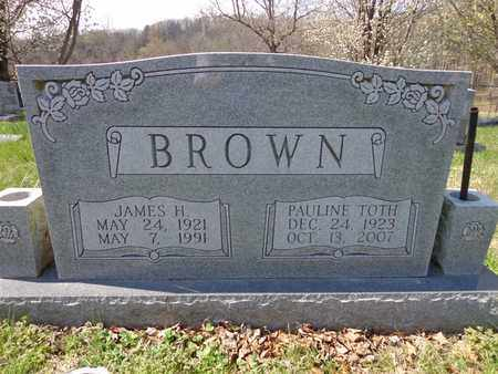 BROWN, JAMES HOWARD - Lewis County, Tennessee | JAMES HOWARD BROWN - Tennessee Gravestone Photos