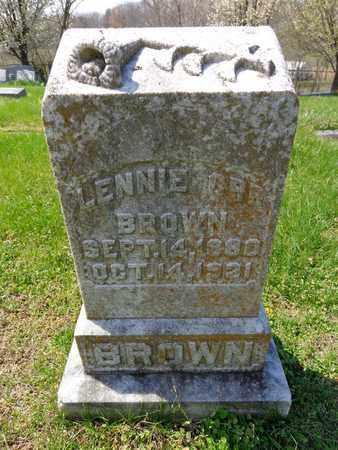 BROWN, LENNIE ORR - Lewis County, Tennessee | LENNIE ORR BROWN - Tennessee Gravestone Photos
