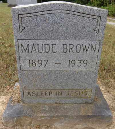 BROWN, MAUDE - Lewis County, Tennessee | MAUDE BROWN - Tennessee Gravestone Photos