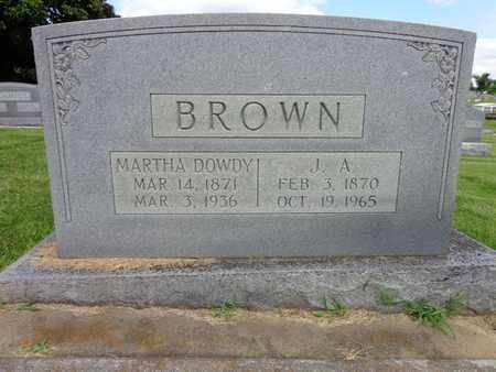 BROWN, J A - Lewis County, Tennessee | J A BROWN - Tennessee Gravestone Photos
