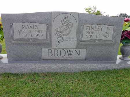 BROWN, FINLEY W - Lewis County, Tennessee | FINLEY W BROWN - Tennessee Gravestone Photos