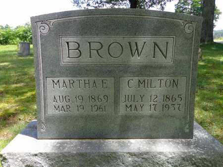 BROWN, C MILTON - Lewis County, Tennessee | C MILTON BROWN - Tennessee Gravestone Photos