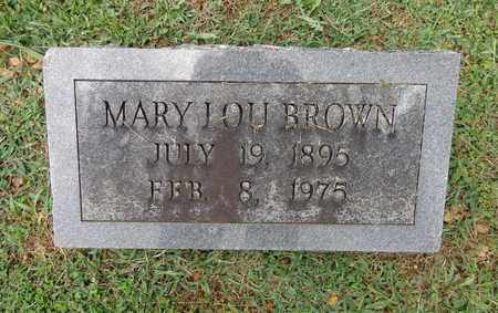 BROWN, MARY LOU - Lewis County, Tennessee | MARY LOU BROWN - Tennessee Gravestone Photos