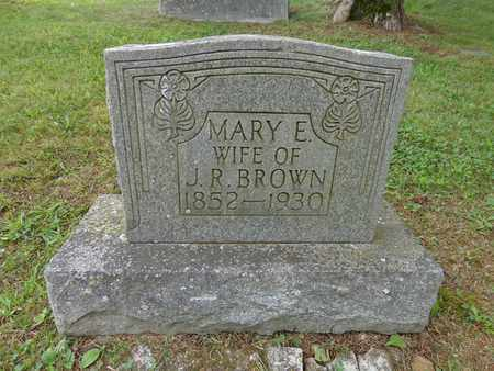 BROWN, MARY E - Lewis County, Tennessee   MARY E BROWN - Tennessee Gravestone Photos