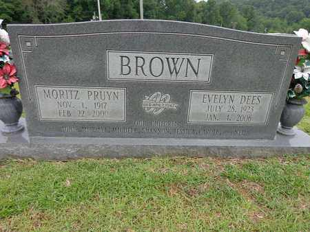 BROWN, MORITZ PRUYN - Lewis County, Tennessee | MORITZ PRUYN BROWN - Tennessee Gravestone Photos